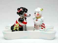 Appletree Design Ruby's Collection 2 Dogs Salt and Pepper Set, Base 6 1/4-Inch, Shakers 3-3/8-Inch by Appletree Design inc. Save 14 Off!. $21.40. Unique and colorful, add fun and whimsy to your kitchen and home décor. Functional and decorative salt and pepper set with base. Comes gift boxed, will make a great gift for yourself or someone special. Ceramic and dolamite material. constructed with quality and durability in mind.. Hand wash only, do not put in dishwasher. Appletree De...