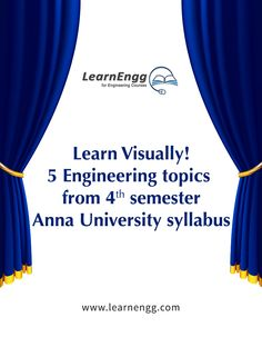 Get a Visual Understanding of 5 Engineering Topics of Anna University (4th Semester)  Learn more: [Click on the image]  #learnengg #engineering #annauniversity