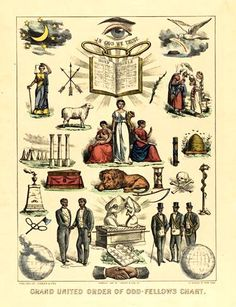 Grand United Independent Order of Odd Fellows Chart (1881)