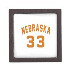 #Nebraska 33 Birthday Designs Gift Box - #giftidea #gift #present #idea #number #33 #thirty-third #thirty #thirtythird #bday #birthday #33rdbirthday #party #anniversary #33rd