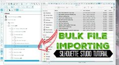 Bulk Importing Files Into Silhouette Studio Library