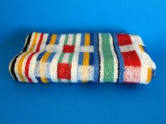 Mod Stripes Beach Towel - Vintage Retro Plaid Bath Towel - Brand New! Made in England Bold Colors, Colours, Beach Towel, Towels, Retro Vintage, England, Stripes, Plaid, Bath
