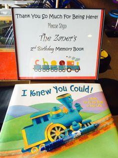 Train birthday- welcome book