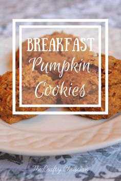Pumpkin cookies are a rite of passage once Fall hits, but they're not healthy for you. So try these guilt-free breakfast pumpkin cookies instead!