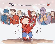 Oh, Tom - Tom Holland Fanclub - Marvel Universe Baby Avengers, Avengers Humor, Marvel Avengers, Marvel Jokes, Marvel Comics, Hero Marvel, Funny Marvel Memes, Marvel Art, Baby Marvel