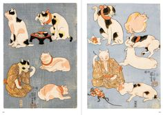 Cats in Ukiyo-e: Japanese Woodblock Print of UTAGAWA Kuniyoshi