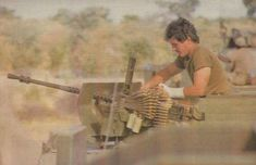 Time to reload, I wonder how the bandage got injured.Heavier armament was installed in late early 1986