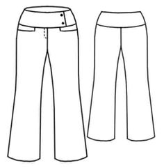 FREE PATTERN. Girl's  Trousers with wide waistband