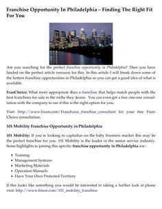 franchise-opportunity-in-philadelphia-finding-the-right-fit-for-you by Carrie Giaconia via Slideshare Document Sharing, Carrie, Philadelphia, Opportunity, Fitness, Philadelphia Flyers