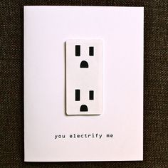 Electrical Socket Love Anniversary or Valentine Card