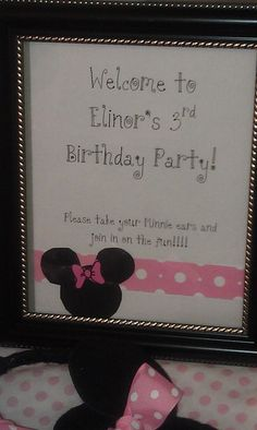 """Photo 4 of 22: Pink Minnie Mouse Party / Birthday """"E's Third Birthday"""" 