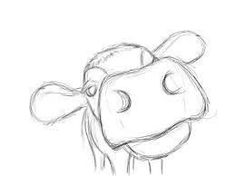 Image result for step by step cow drawing face