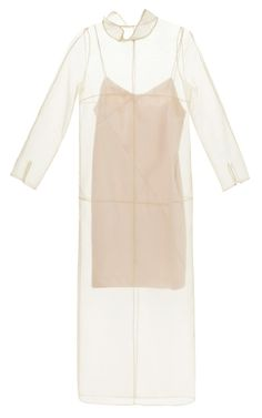 Midi Organza Dress With Collar And Satin Slip by Barbara Casasola