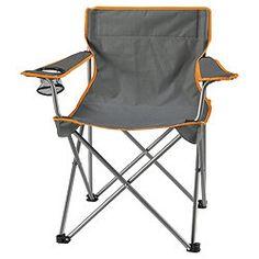 Tesco Folding Camping Chair, Grey, £6