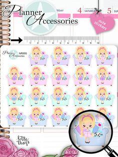 Sticker - Emely Buch lesen Sticker NR995 - ein Designerstück von PlannerAccessories bei DaWanda