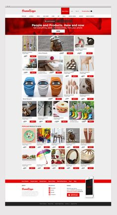 (Free Psd) Shopping Template by Enes Danış, via Behance