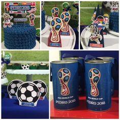 Topo de bolo e personalizados tema COPA DO MUNDO 2018 Soccer Theme Parties, 9th Birthday Parties, Birthday Cup, Soccer Party, 13th Birthday, Party Themes, Airplane Party, Dad Day, Fifa World Cup