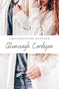 Free knitting pattern oversized knitted cardigan knit sweater chunky knit cardigan lion brand yarn easy beginner friendly quick knits hooked on tilly Free Knitting Patterns For Women, Chunky Knitting Patterns, Easy Knitting, Beginner Knitting, Knitting Stitches, Knit Cardigan Pattern, Oversized Knit Cardigan, Quick Knits, Vogue Knitting