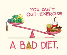 You can't out-exercise a bad diet