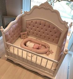 50 Inspiring Nursery Ideas for Your Baby Girl - Cute Designs You'll Love Get inspired to prepare and create the perfect room for your baby girl. These baby girl nursery ideas can help you create a cute girly room style. Baby Bedroom, Baby Room Decor, Girls Bedroom, Trendy Bedroom, Baby Girl Bedding, Crib Bedding, Small Nurseries, Baby Furniture, Furniture Decor