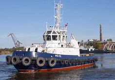 """The yard sea trials of tugboat """"MB-92"""" (building No 503, project PE-65) the first tugboat from the series of four tugboats of project PE -65, built by Pella Shipyard for the Russian Navy have been successfully completed."""