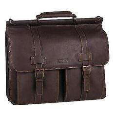 "Kenneth Cole Reaction ""Mind Your Own Business"" 5.5"" Double Gusset Dowel Rod Portfolio Computer Case 524455 