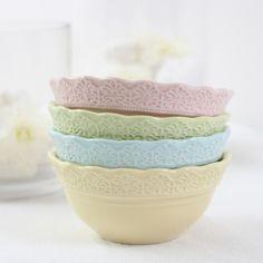 Lace bowls - pastel decor