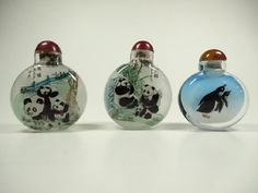 Lot: 3 PC CHINESE INSIDE PAINTED SNUFF BOTTLES, 2 HAVE, Lot Number: 0111D, Starting Bid: $10, Auctioneer: Wilton Gallery, Auction: HUGE MULTI ESTATE AUCTION, Date: December 27th, 2016 PST