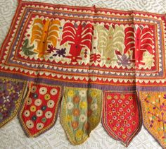 Antique Textile Applique Embroidery 12 by ThreadsOfOld   on Etsy
