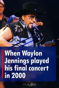 Waylon Jennings did not get to have a farewell tour at the end of his career. He was very ill with diabetes and in pain. At this performance at Ryman Auditorium in 2000, he played with the Waymore Blues Band. #WaylongJennings #countrymusic #NeverSayDie #Singing #Music