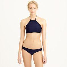 Crop halter bikini top - Solid Separates - Women - J.Crew