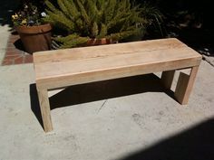bench made from reclaimed roof beams