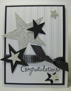 Stars - Congratulations Card by Barb Mann - Cards and Paper Crafts at Splitcoaststampers