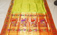 Lotus pallu paithani sarees
