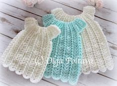 Best 12 This is a pattern for a crochet baby dress made with baby sport yarn and a size mm) hook. Crochet Baby Booties Tutorial, Crochet Baby Hat Patterns, Crochet Bebe, Doily Patterns, Crochet Baby Hats, Baby Patterns, Free Crochet, Crochet Angels, Crochet Summer