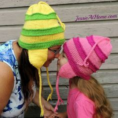Elaina's Noggin Cover, free kniting pattern in 4 sizes from Child Small through Adult Medium Large on Jessie At Home