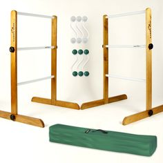 Perfect for parties, picnics, cookouts and camping. Our Ladder Golf brand games are sure to draw a crowd.