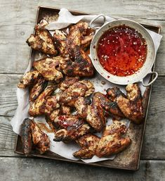 Fried Chicken, Tandoori Chicken, Summer Recipes, Chicken Wings, Love Food, Spicy, Grilling, Meat, Champagne