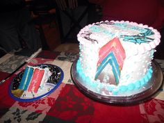 Twin Gender Reveal Cake                                                                                                                                                     More