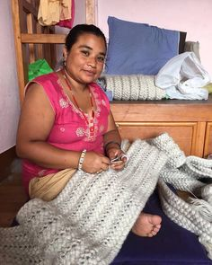 Meet one of the ladies who is responsible for the braiding of the wool for the Chulto Carpet, a lovely Nepali woman with a beautiful smile, a wonderful smile. Atelier Sukha only works with local NGO's who are determined to take an interest in the well being of women. Education, financial control and craftmanship are important elements in their work ethics. Happy to be part of such a strong initiative, puts a real smile on our faces!