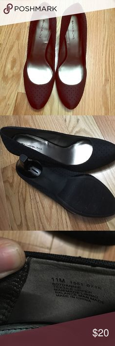 Bandolino black heels 👠 Brand new size 11 Bandolino heels. They are black with black dots. Purchase for a Halloween costume but never wear them😢 Bandolino Shoes Heels