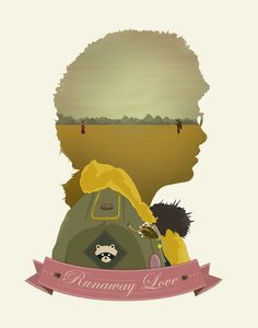 Moonrise Kingdom - Runaway Love - 22x28 - moonrise kingdom, wes anderson, bill murray, camp ivanhoe on Etsy, $36.00
