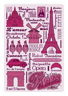 Paris Poster by GERALDESIGN , via Behance  http://www.behance.net/gallery/Graphismes/3167916  Buy on Etsy: https://www.etsy.com/listing/100025609/paris-poster?ref=v1_other_1