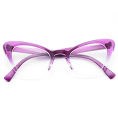 Alexis Gradient Frame Cat Eye Clear Glasses - Alexis Gradient Frame Cat Eye Clear Glasses Informations About Alexis Gradient Frame Cat Eye Clear G - Purple Cat, Cat Eye Glasses, Glasses Frames, Types Of Fashion Styles, Eyewear, Sunglasses Women, At Least, How To Look Better, Manipulation Photography