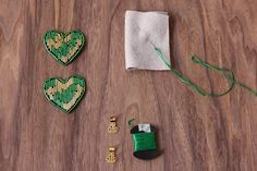 For The Makers: Two of Hearts Clips (for ballet flats and clothing)