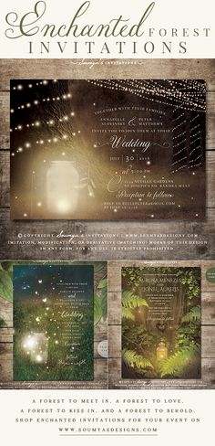 Forest Wedding Ideas, Woodland Baby Shower Theme, Secret Garden Wedding Theme | Feel free to contact me for matching items. © Soumya's Invitations | Soumya S. Mohanty | All Rights Reserved. www.soumyasdesigns.com Imitation, modification, or derivative works (matching items) of this design in any form, for any use, without explicit authorisation from me, is strictly prohibited. #wedding #weddinginspiration #weddinginvitations