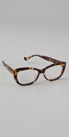 Cat-eye cuties! Dita Vamp Glasses with tortoiseshell frame.