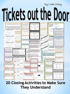 This package includes 20 tickets out the door that can be implemented in any subject. The tickets encourage students to reflect on daily lessons before they leave the classroom. Students will rate the lesson, come up with their own questions, and reflect High School Classes, High School Students, Teaching Secondary, Teacher Hacks, Teacher Stuff, Social Studies Classroom, Exit Tickets, School Psychology, New Teachers