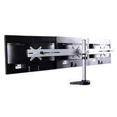 FLEXIMOUNTS M15 Triple LCD Arm Desk Monitor Mount for 10''-24'' Samsung/Dell/Asus/Acer/HP/AOC LCD Computer Monitor (Triple Monitor Stand)