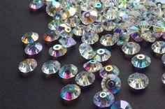 Vintage Swarovski Crystal Beads Crystal 5305 by CreationsByDevlin, $7.50